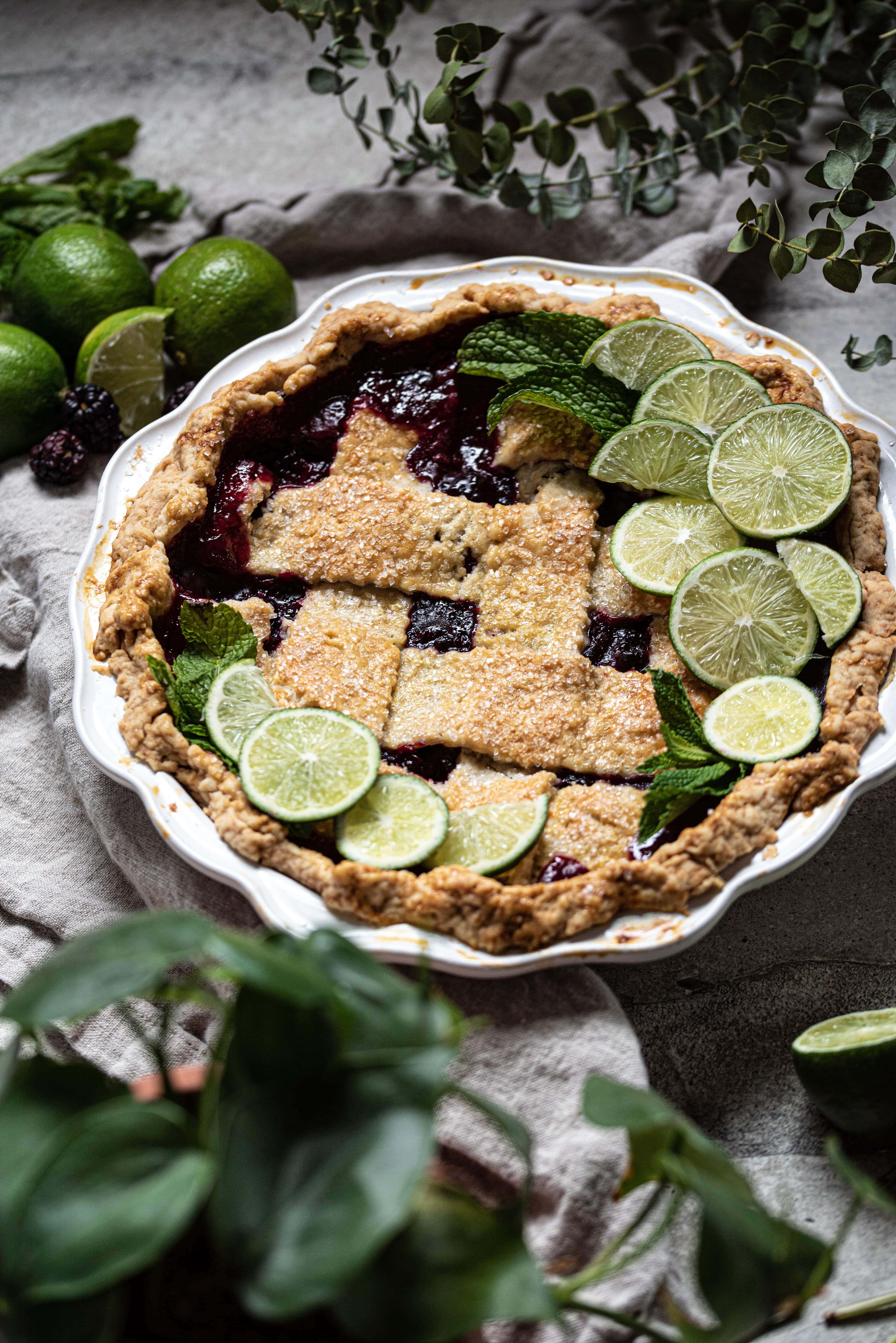 Bourbon Blackberry Pie