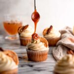 Apple cider cupcakes with bourbon icing