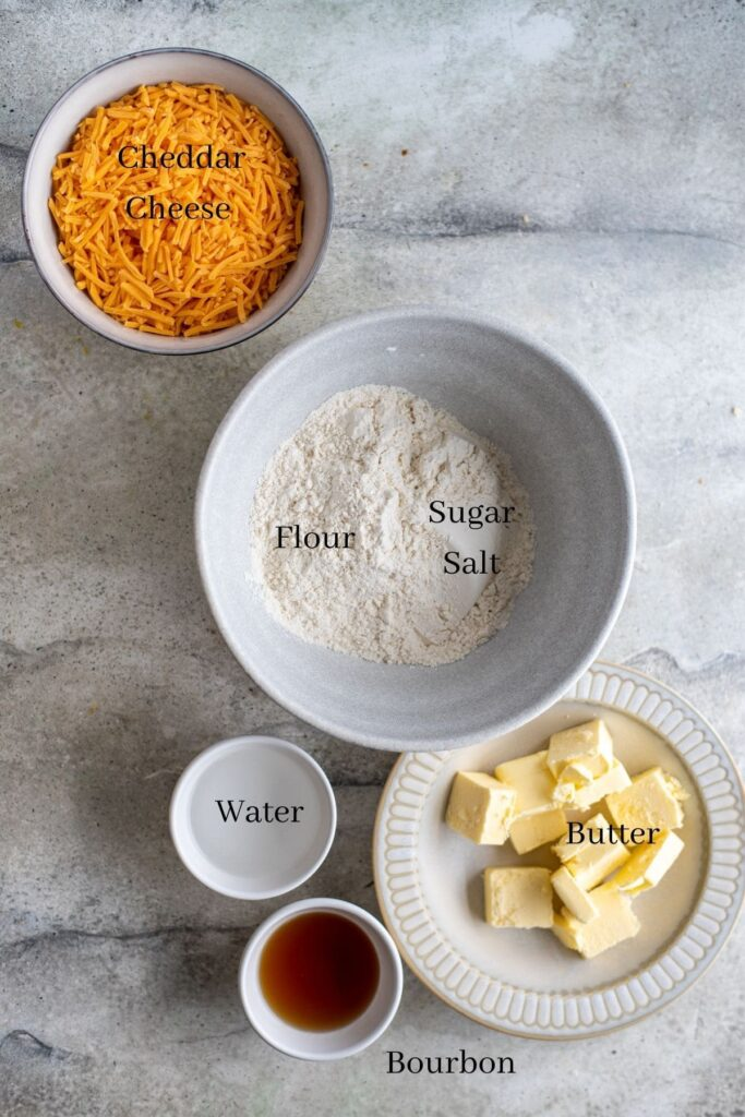 Pie crust ingredients on a table